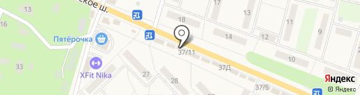 Магазин автозапчастей на карте Малаховки