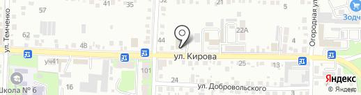 Мега на карте Крымска