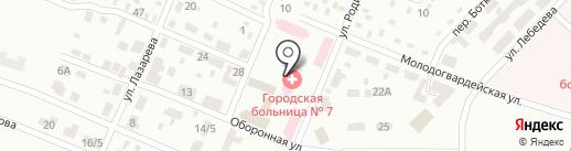 Женская консультация, Городская больница №7 на карте Макеевки