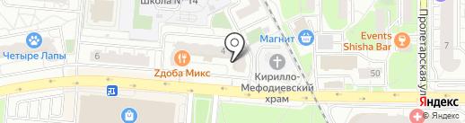 Астин на карте Балашихи