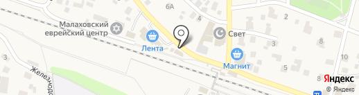 Семейная парикмахерская на карте Малаховки