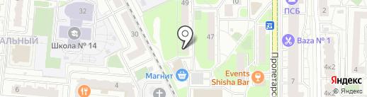Богатырь на карте Балашихи
