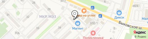 Южный двор на карте Малаховки