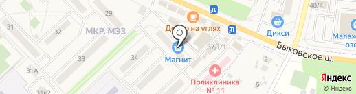 Магнит на карте Малаховки