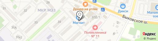 Апора на карте Малаховки