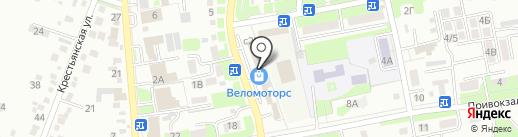 Веломоторс-Юг на карте Крымска