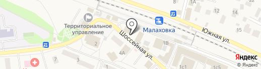 Кристалл на карте Малаховки