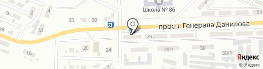 Світанок на карте Макеевки