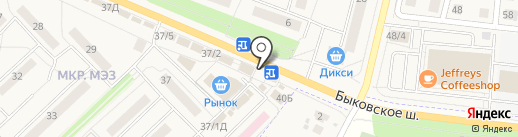 Избёнка на карте Малаховки