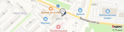 Камея на карте Малаховки