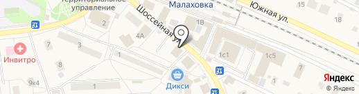 Сток Планета на карте Малаховки