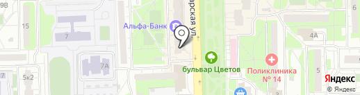 Банкомат, ВТБ Банк Москвы, ПАО Банк ВТБ на карте Балашихи