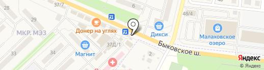 Киоск фастфудной продукции на карте Малаховки