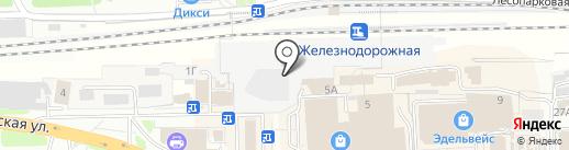Железнодорожная на карте Железнодорожного