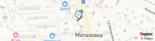 Геометрия цвета на карте Малаховки