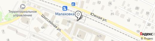 Малаховка на карте Малаховки