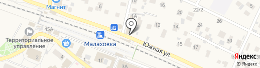 Барина на карте Малаховки