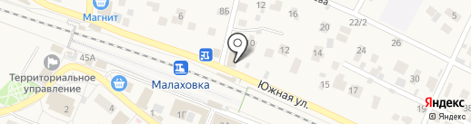 На Южной на карте Малаховки