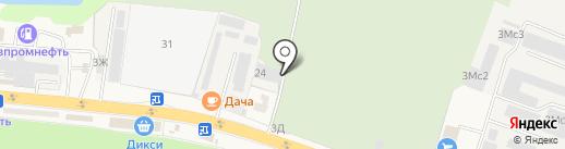 Гера на карте Малаховки