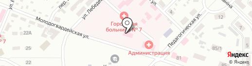 Городская больница №7 на карте Макеевки