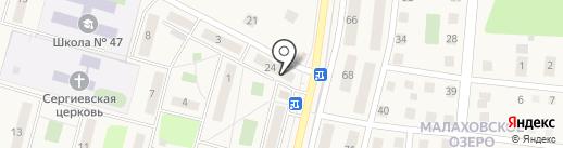 Булочная №60 на карте Малаховки