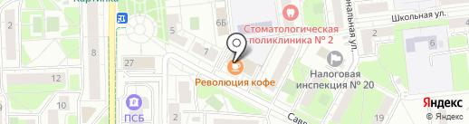 Магазин белья и пряжи на карте Балашихи