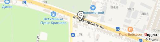 Поляна на карте Малаховки