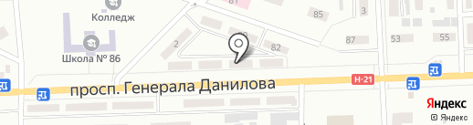 Лекарь на карте Макеевки