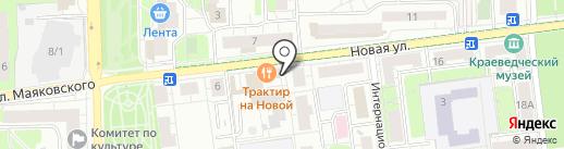 ПК Апшерон на карте Балашихи