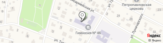 Гимназия №46 на карте Малаховки