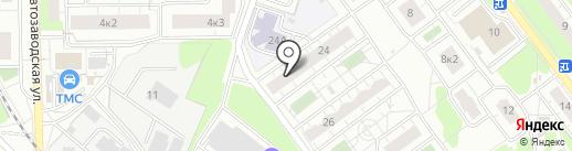 Росток на карте Балашихи