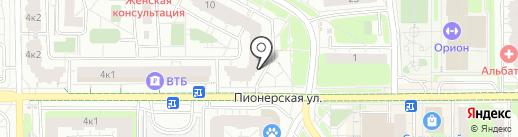 Магазин женской одежды на карте Балашихи