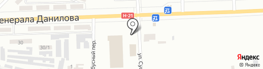 Шиномонтажная мастерская на карте Макеевки