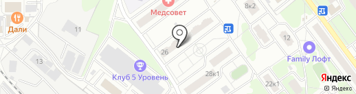 ГАРАНТ-РЕДАН-СЕРВИС на карте Железнодорожного