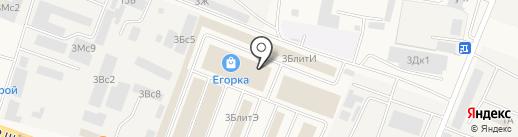 Егорка на карте Малаховки
