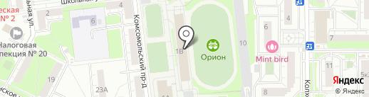 ДЮСШ на карте Железнодорожного