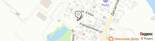 На Аэродромной на карте Геленджика