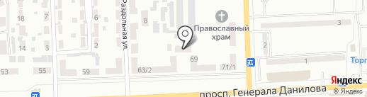 Полиграфыч на карте Макеевки