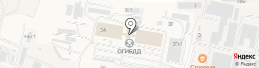 Люберецкая обувь на карте Малаховки