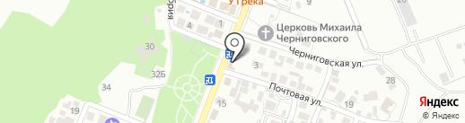 Почтовое отделение №6 на карте Геленджика