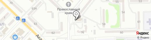 Семерочка на карте Макеевки