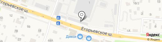 Ютольд на карте Малаховки