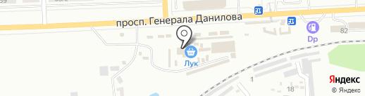 Зеленый на карте Макеевки