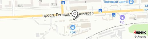 Радуга на карте Макеевки