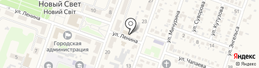 Ювелирная мастерская на ул. Ленина, 4 на карте Нового Света