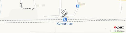 Криничная на карте Криничной
