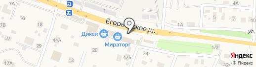 Малаховский на карте Малаховки