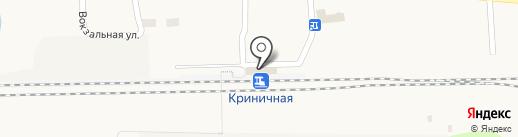 Магистраль на карте Криничной