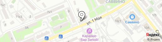 Магазин мяса и рыбы на карте Балашихи