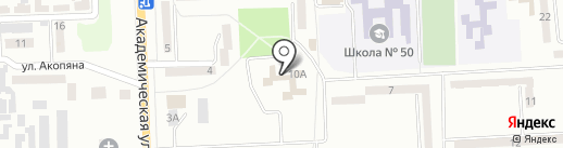 Глория на карте Макеевки